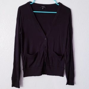 Black Express Cardigan
